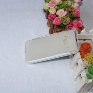 Силиконовый матовый полупрозрачный чехол для HTC One ME Белый
