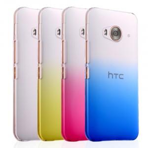Пластиковый градиентный полупрозрачный чехол для HTC One ME