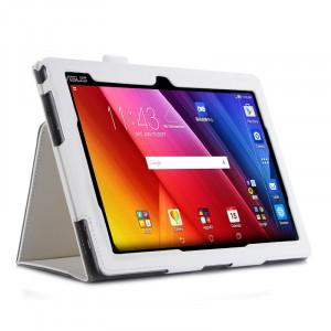 Чехол подставка с рамочной защитой экрана, внутренними отсеками и поддержкой кисти для ASUS ZenPad 10 Белый