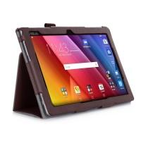 Чехол подставка с рамочной защитой экрана, внутренними отсеками и поддержкой кисти для ASUS ZenPad 10 Коричневый