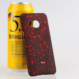 Пластиковый матовый дизайнерский чехол с голографическим принтом Звезды для HTC One ME