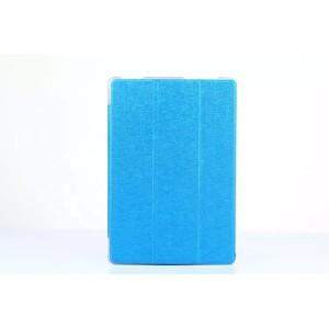 Чехол флип подставка сегментарный на поликарбонатной основе текстура Линии для ASUS ZenPad 10 Голубой