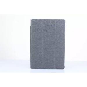 Чехол флип подставка сегментарный на поликарбонатной основе текстура Линии для ASUS ZenPad 10 Серый