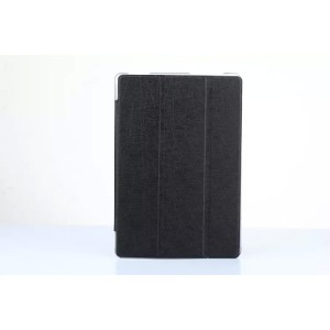 Чехол флип подставка сегментарный на поликарбонатной основе текстура Линии для ASUS ZenPad 10 Черный