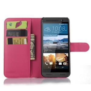 Чехол портмоне подставка на пластиковой основе с магнитной застежкой для HTC One ME