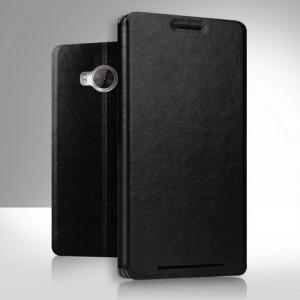 Чехол флип подставка водоотталкивающий для HTC One ME Черный