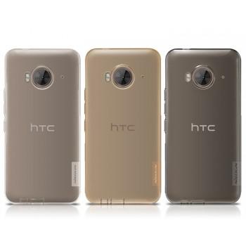 Силиконовый матовый полупрозрачный усиленный чехол с защитными заглушками для HTC One ME