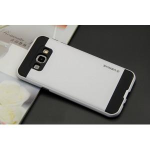 Двухкомпонентный силиконовый матовый чехол с поликарбонатным бампером и крышкой для Samsung Galaxy J7