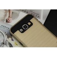 Двухкомпонентный силиконовый матовый чехол с поликарбонатным бампером и крышкой для Samsung Galaxy J7 Бежевый