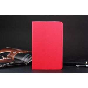 Текстурный чехол подставка на силиконовой основе для ASUS ZenPad 8 Красный