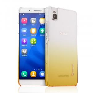 Пластиковый матовый полупрозрачный градиентный чехол для Huawei ShotX