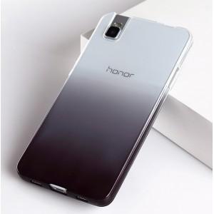 Силиконовый матовый полупрозрачный градиентный чехол для Huawei ShotX
