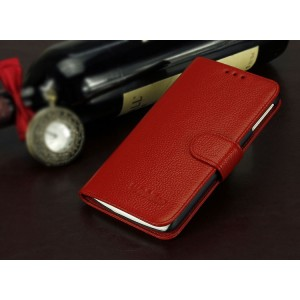 Кожаный чехол портмоне (нат. кожа) для Lenovo Vibe X