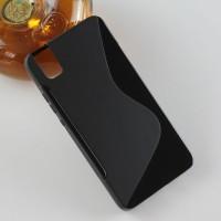 Силиконовый матовый чехол с нескользящей текстурой S для Huawei ShotX Черный