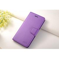 Чехол портмоне подставка на силиконовой основе на магнитной защелке для Samsung Galaxy J7 Фиолетовый