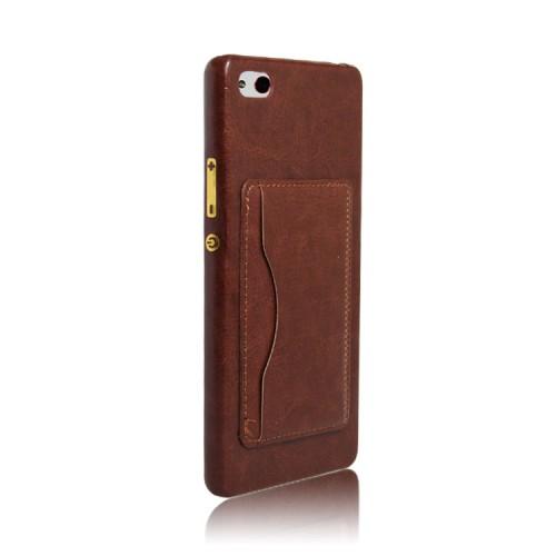 Дизайнерский чехол накладка с отделениями для карт и подставкой для ZTE Nubia Z9 Mini