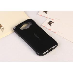 Эргономичный силиконовый непрозрачный чехол с нескользящими гранями для Samsung Galaxy J7 Черный