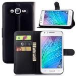 Чехол портмоне подставка на пластиковой основе на магнитной защелке для Samsung Galaxy J7