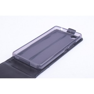 Чехол вертикальная книжка на силиконовой основе с магнитной застежкой для ZTE Nubia Z9 Mini Черный