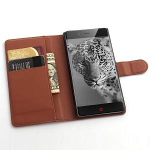 Чехол портмоне подставка с защелкой для ZTE Nubia Z9 Mini