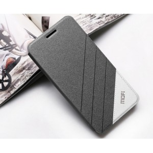 Тестурный чехол флип подставка на силиконовой основе дизайн Уголок для ZTE Nubia Z9 Mini Черный