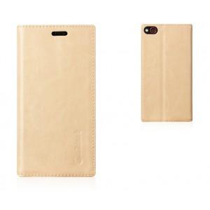 Глянцевый чехол флип подставка на присосках с отделением для карты для ZTE Nubia Z9 Mini