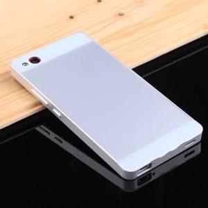 Двухкомпонентный чехол с металлическим бампером и двухцветной поликарбонатной накладкой для ZTE Nubia Z9 Mini Серый