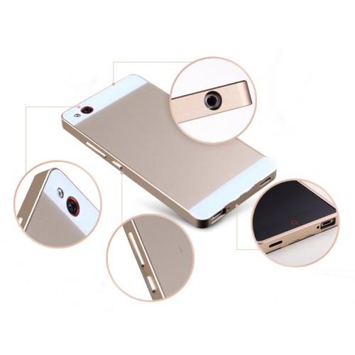 Двухкомпонентный чехол с металлическим бампером и двухцветной поликарбонатной накладкой для ZTE Nubia Z9 Mini