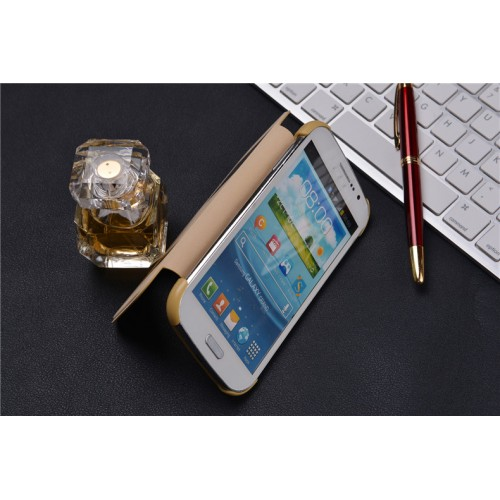 Чехол флип с окном вызова и свайпом на пластиковой основе для Samsung Galaxy Grand Duos