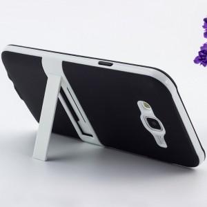 Двухкомпонентный силиконовый чехол с поликарбонатной накладкой с встроенной ножкой-подставкой для Samsung Galaxy J7