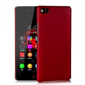 Пластиковый матовый непрозрачный чехол для ZTE Nubia Z9 Mini Красный