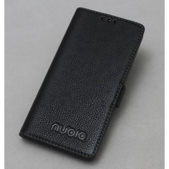 Кожаный чехол горизонтальная книжка подставка на силиконовой основе для ZTE Nubia Z9 Mini