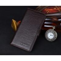Кожаный чехол портмоне (нат. кожа крокодила) для ZTE Nubia Z9 Mini