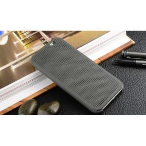 Точечный чехол смарт флип с функциями оповещения для HTC One ME