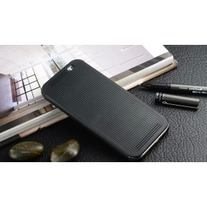 Точечный чехол смарт флип с функциями оповещения для HTC One ME Черный