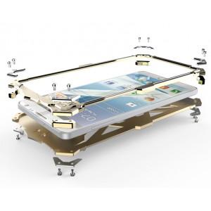 Цельнометаллический противоударный чехол из авиационного алюминия на винтах с мягкой внутренней защитной прослойкой для гаджета с прямым доступом к разъемам для Huawei Mate S