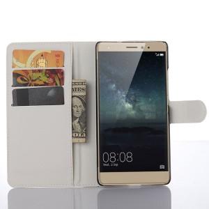 Чехол портмоне подставка на пластикокой основе и на магнитной защелке для Huawei Mate S