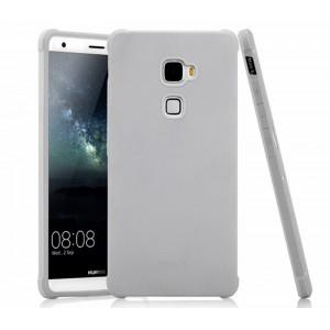 Противоударный двухкомпонентный силиконовый матовый непрозрачный чехол с поликарбонатными вставками для Huawei Mate S Белый