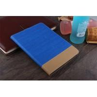 Текстурный дизайнерский чехол подставка на поликарбонатной основе для Nokia N1 Синий