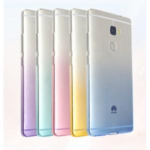 Силиконовый матовый полупрозрачный градиентный чехол для Huawei Mate S