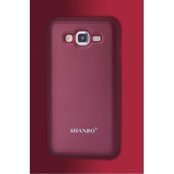 Силиконовый матовый чехол с с текстурным покрытием Кожа для Samsung Galaxy J7