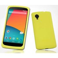 Премиум софт-тач силиконовый чехол для Google Nexus 5 Желтый