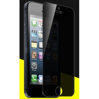 Антишпионское износоустойчивое сколостойкое олеофобное защитное стекло-пленка для Iphone 5/5s/SE