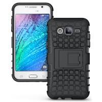 Противоударный двухкомпонентный чехол с поликарбонатной накладкой экстрим защита для Samsung Galaxy J5 Черный