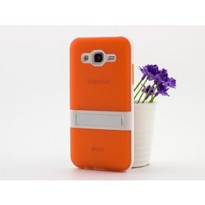 Двухкомпонентный силиконовый чехол с поликарбонатной накладкой с встроенной ножкой-подставкой для Samsung Galaxy J5
