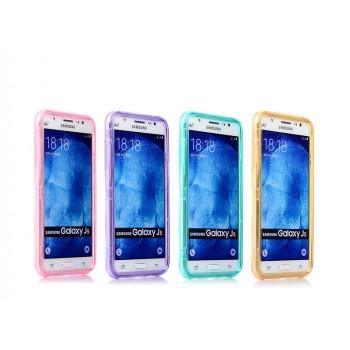Двухкомпонентный силиконовый чехол горизонтальная книжка с акриловой полноразмерной транспарентной смарт крышкой для Samsung Galaxy J5