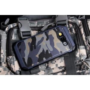 Двухкомпонентный силиконовый чехол с поликарбонатными вставками текстура Камуфляж для Samsung Galaxy J5