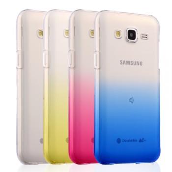 Пластиковый полупрозрачный градиентный чехол для Samsung Galaxy J5