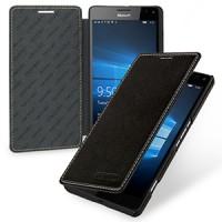 Кожаный чехол горизонтальная книжка (нат. кожа) для Microsoft Lumia 950 XL