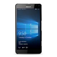 Кожаный чехол накладка (нат. кожа) серия Back Cover для Microsoft Lumia 950 XL Черный